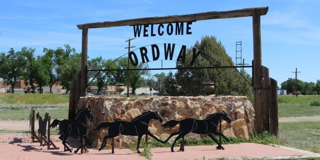 image of the town of ordway colorado
