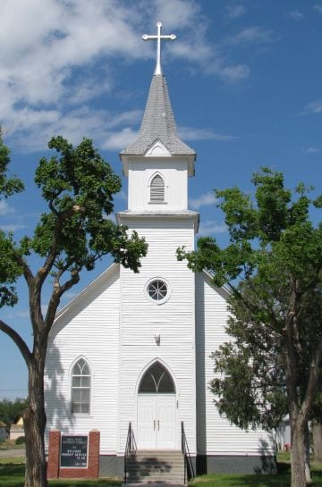 image of luthern church in sugar city