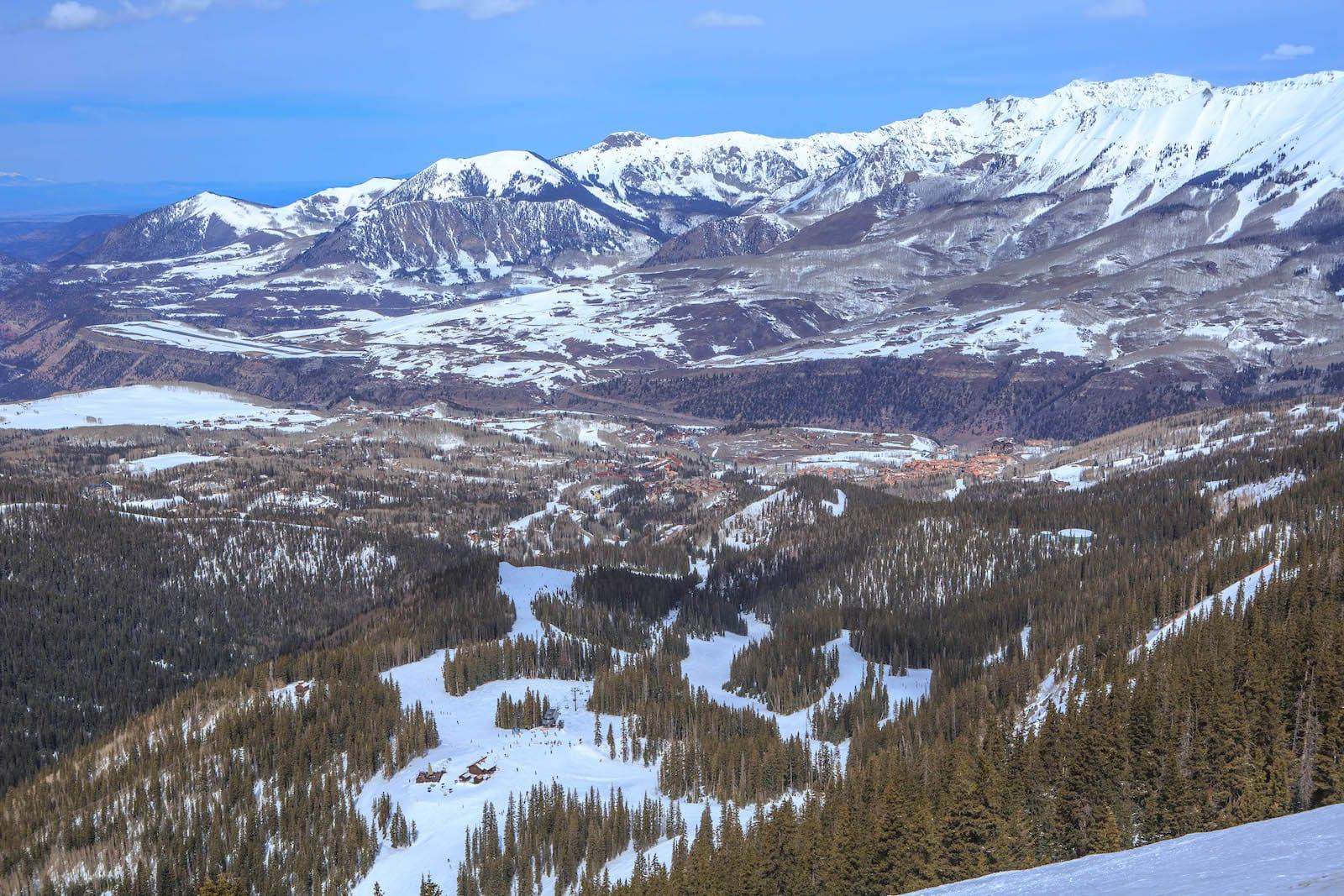 Telluride Ski Resort Aerial Colorado