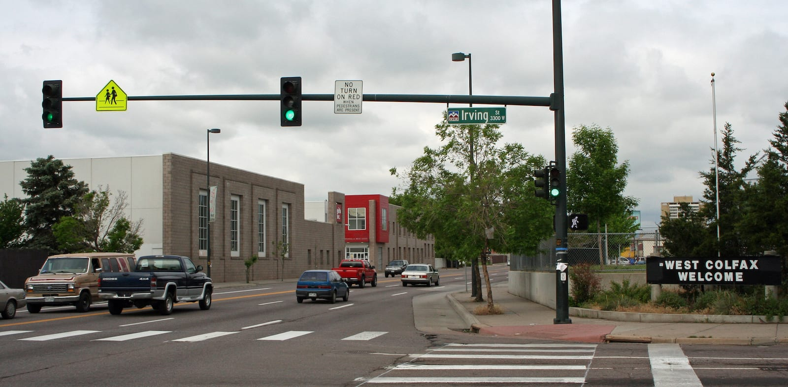 West Colfax Welcome Sign Irving Street