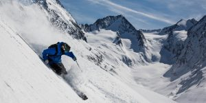 image of man skiing