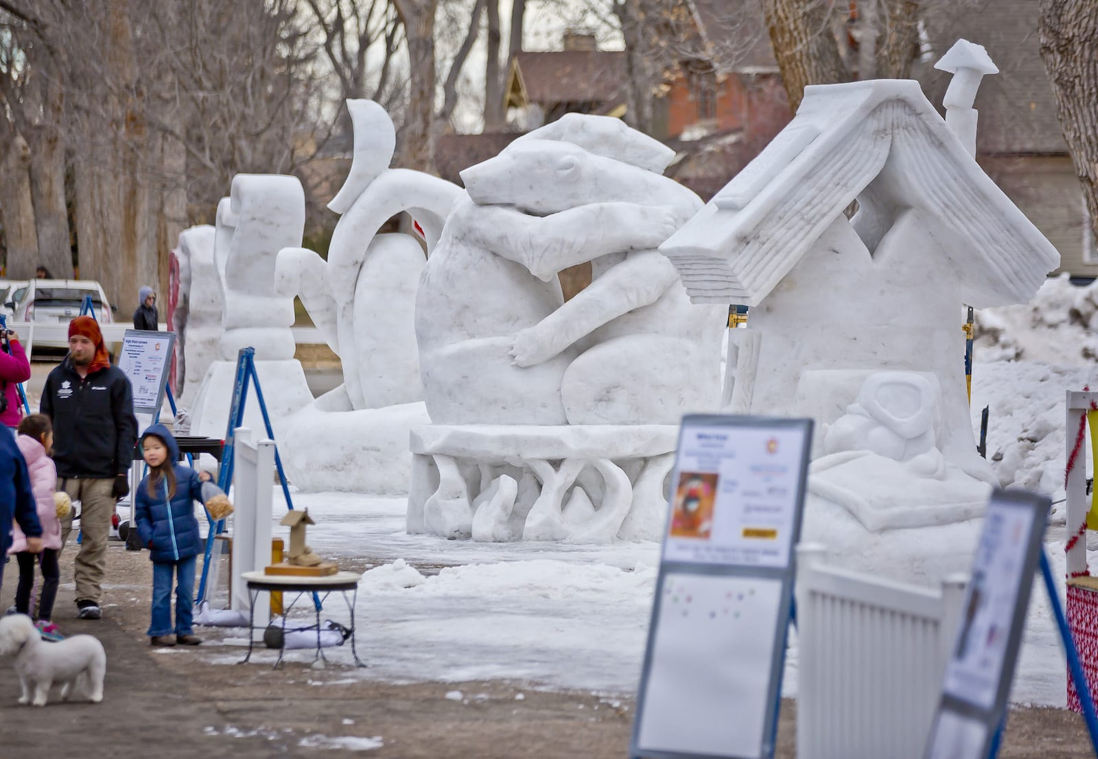 Berthoud Snowfest Ice Sculptures