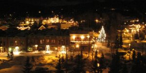 image of breckenridge at Christmas