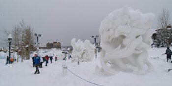 image of snow sculptures in breckenridge