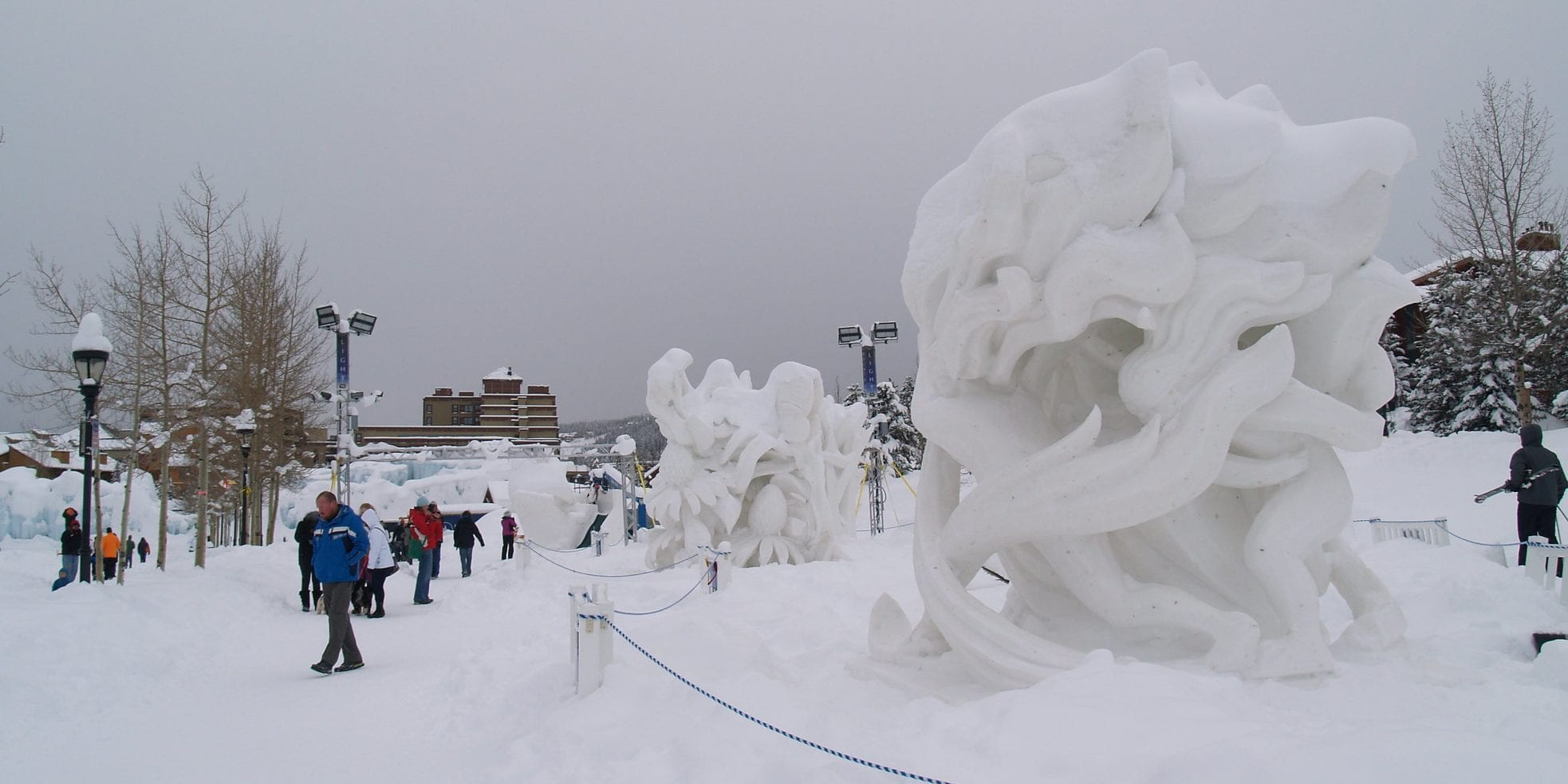 image of snow sculptures in breckenridge