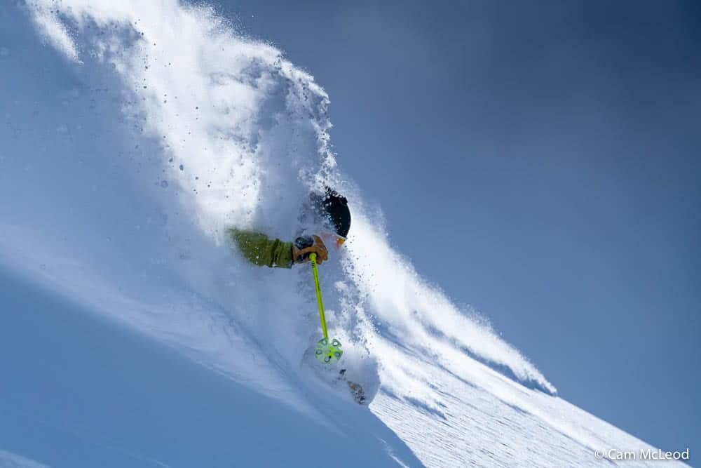 image of man skiing