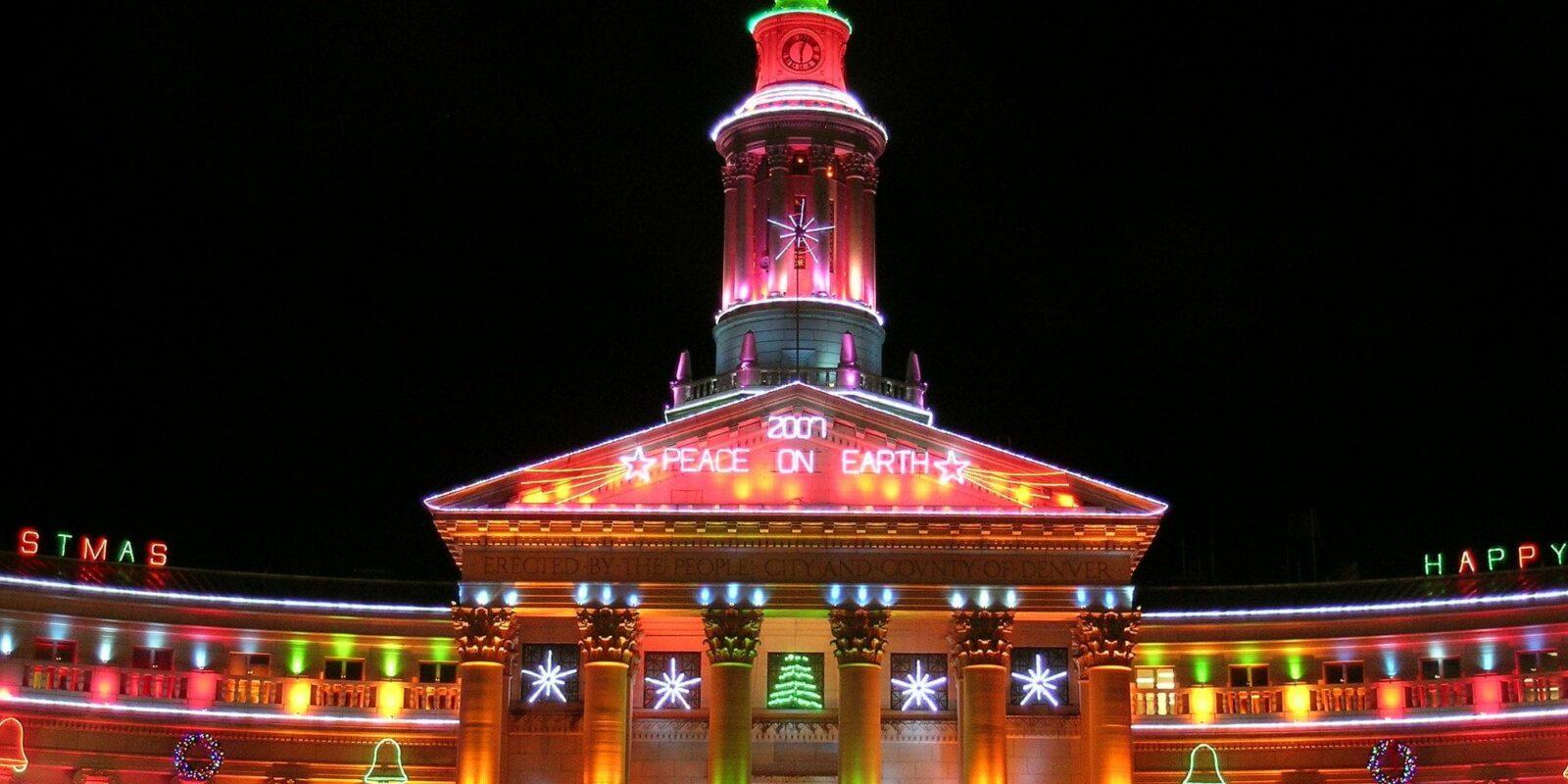 image of denver civic center at christmas