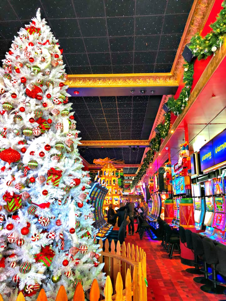 image of christmas tree in a casino