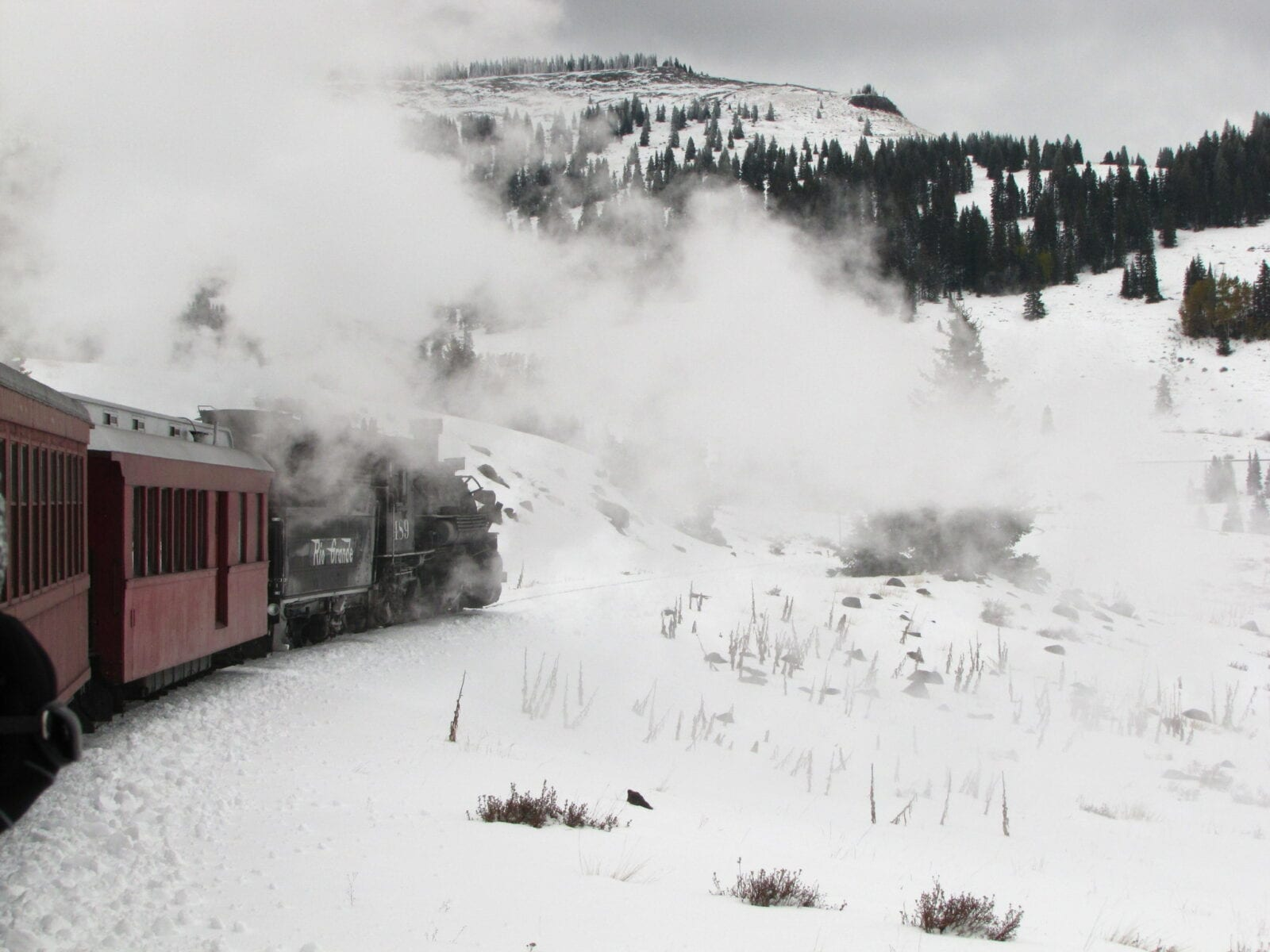 image of Cumbres and toltec train in winter