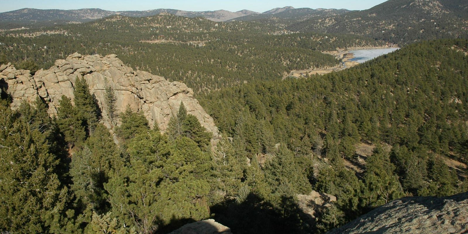 Evergreen, Colorado Forest Aerial View