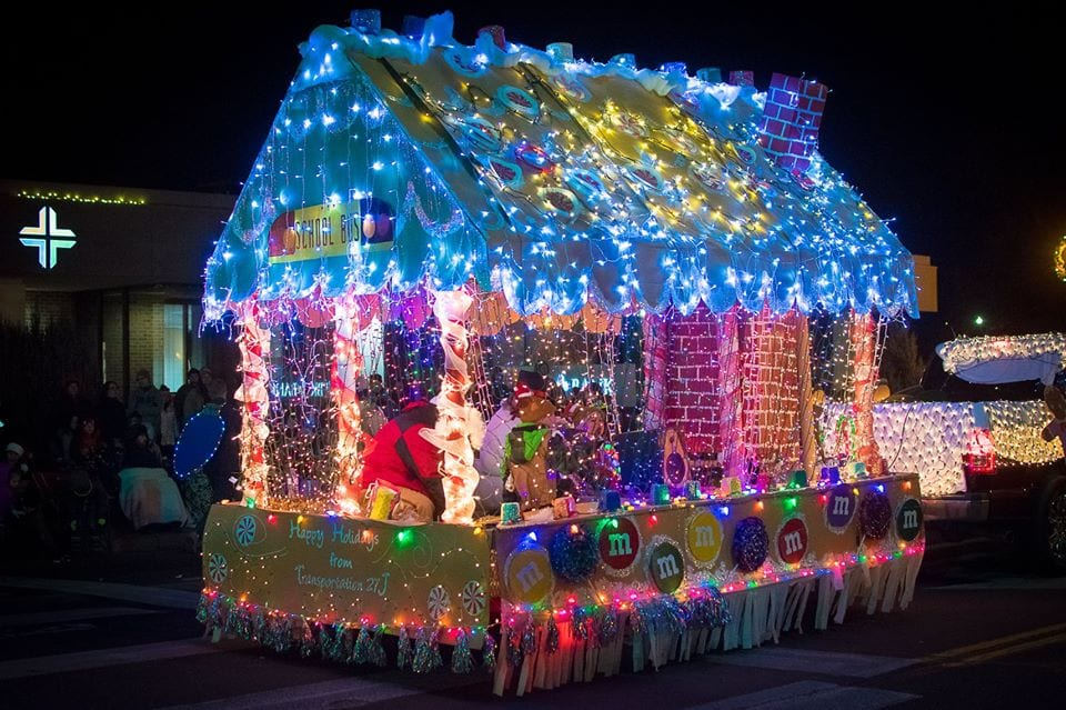 image of a christmas parade