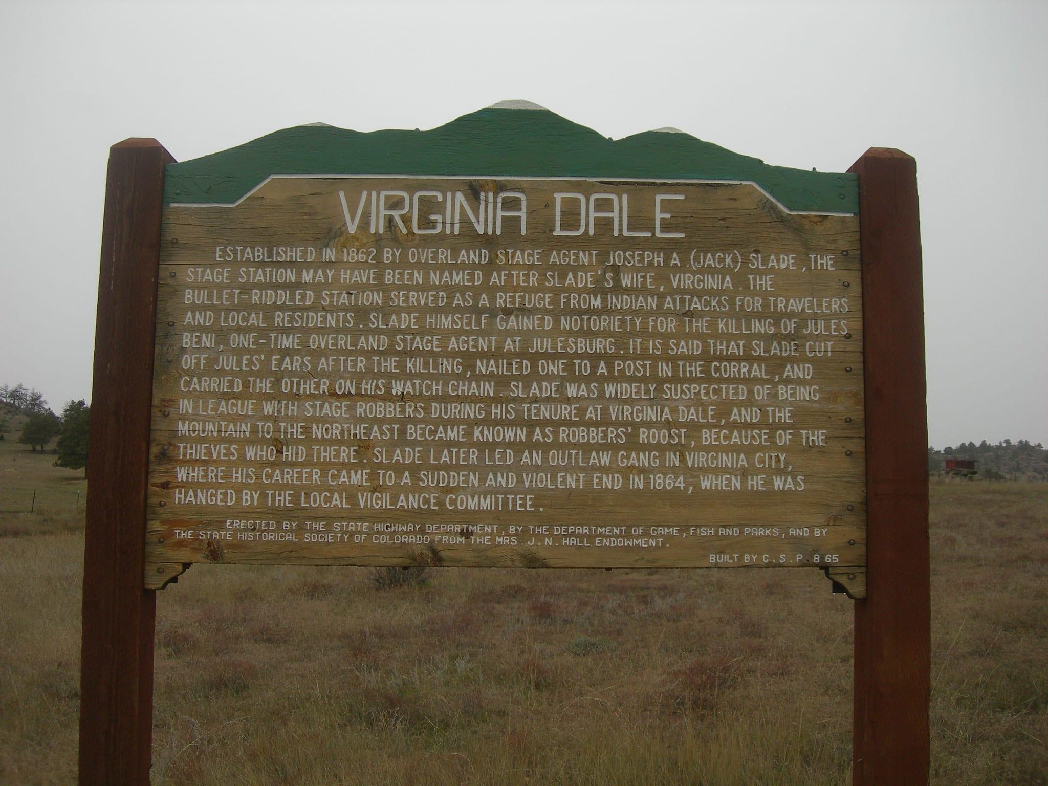 historic marker Virginia Dale