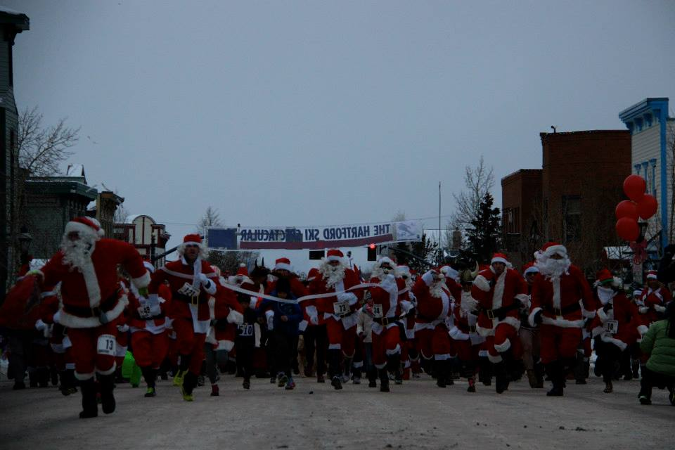 image of the santa run in Breckenridge