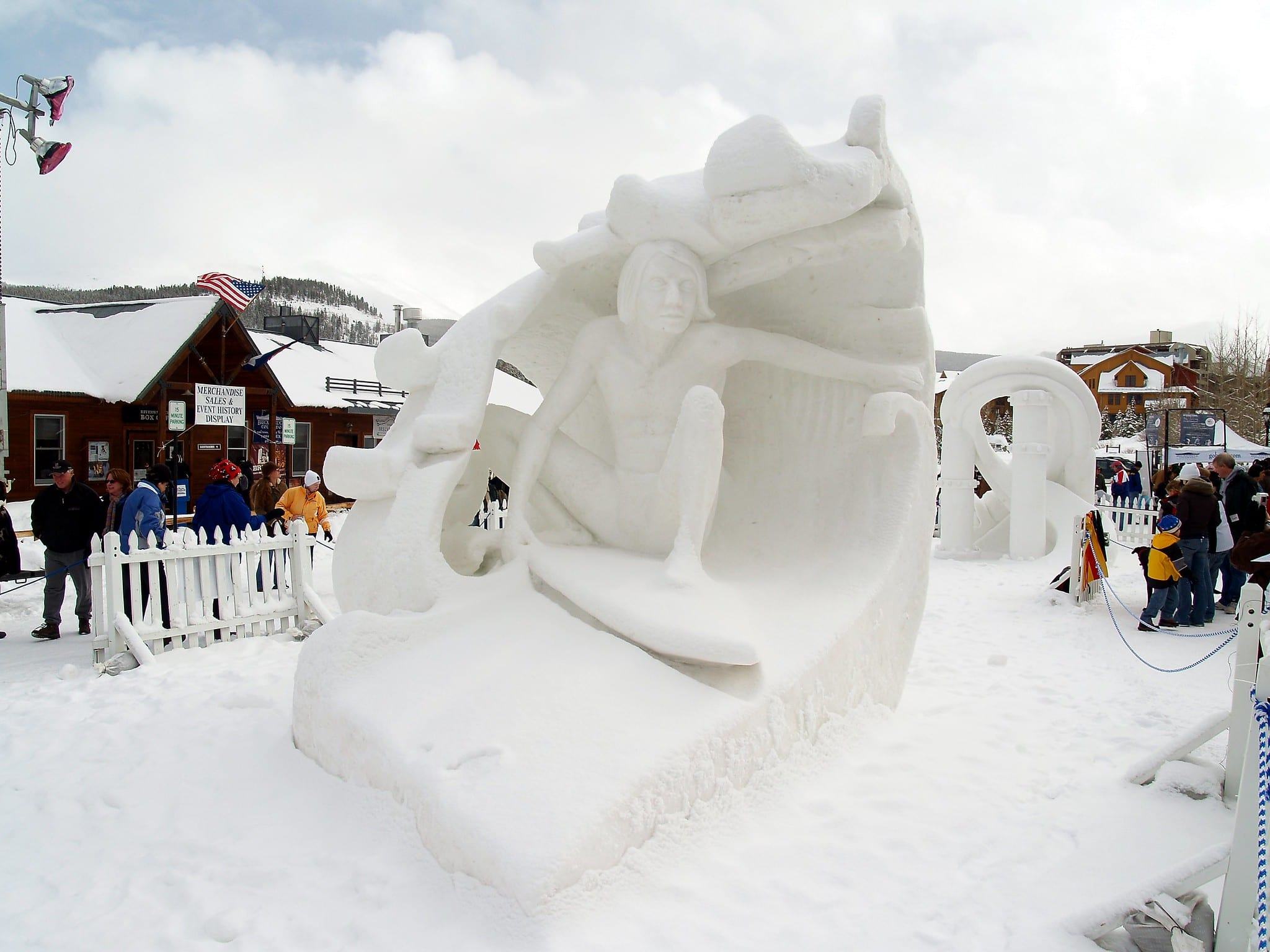 image of snow sculpture