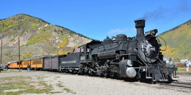 Colorado Train Rides Durango and Silverton Railroad Locomotive