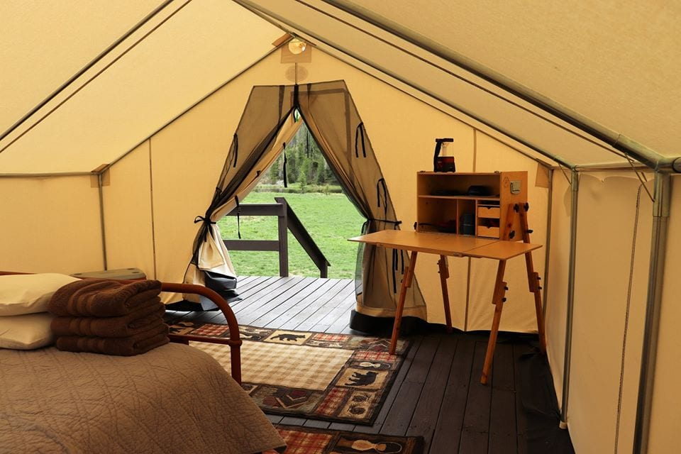 image of glamping tent at arapahoe valley ranch