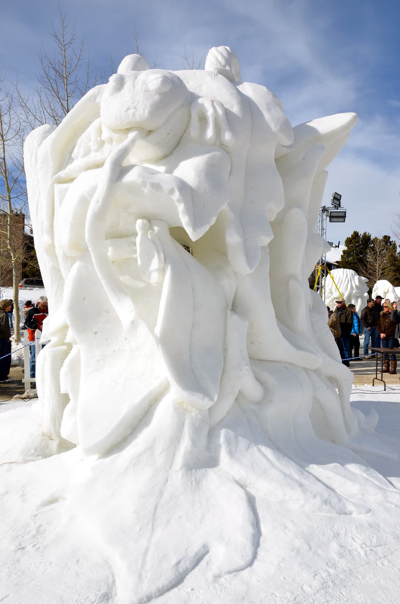 image of a snow sculpture