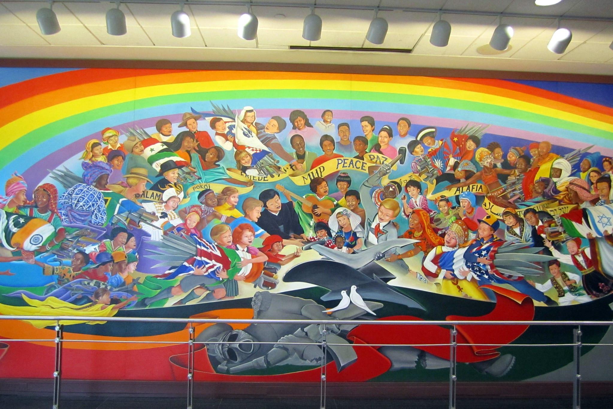 image of mural at denver international airport