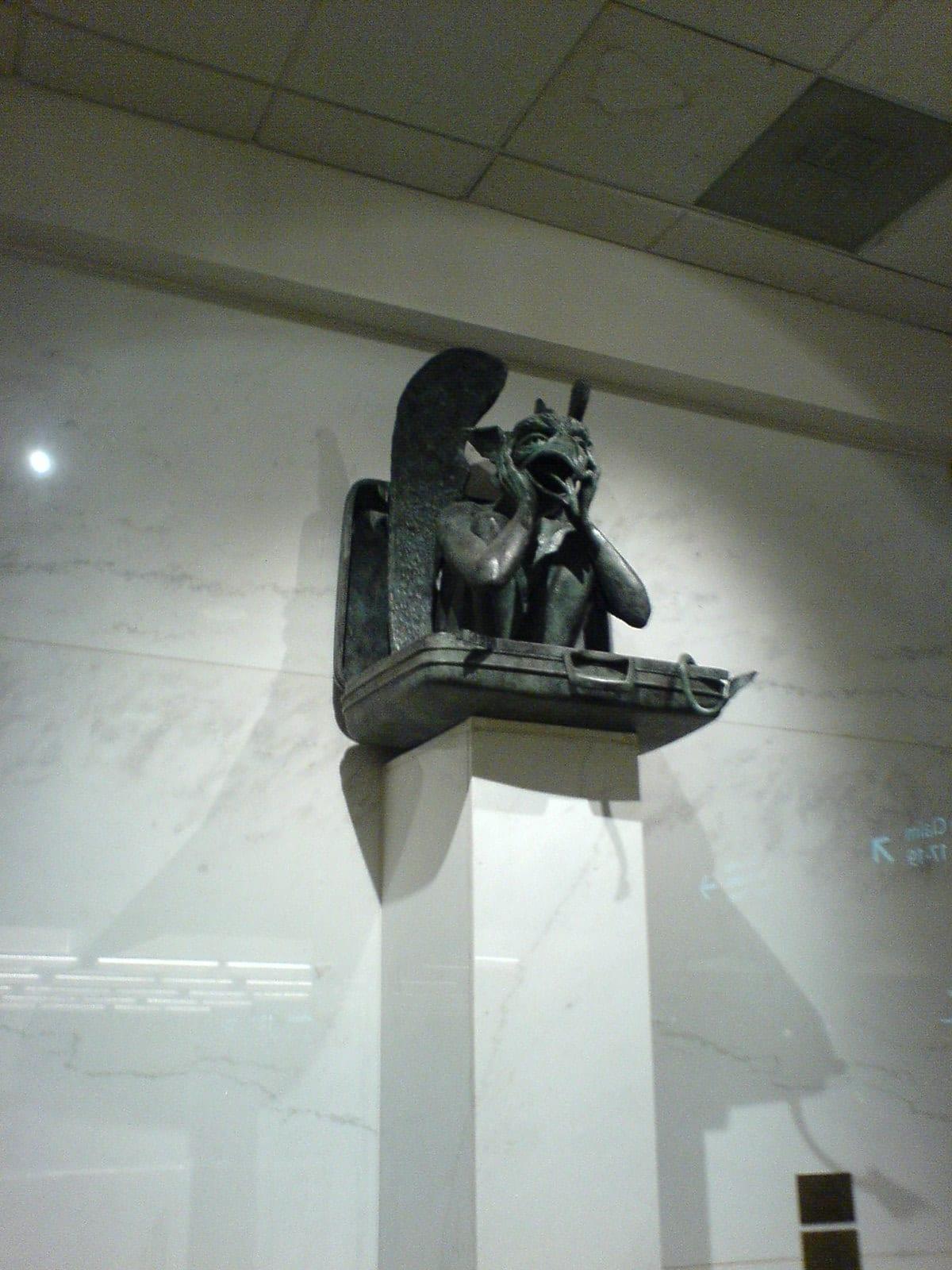 image of gargoyle in Denver International Airport