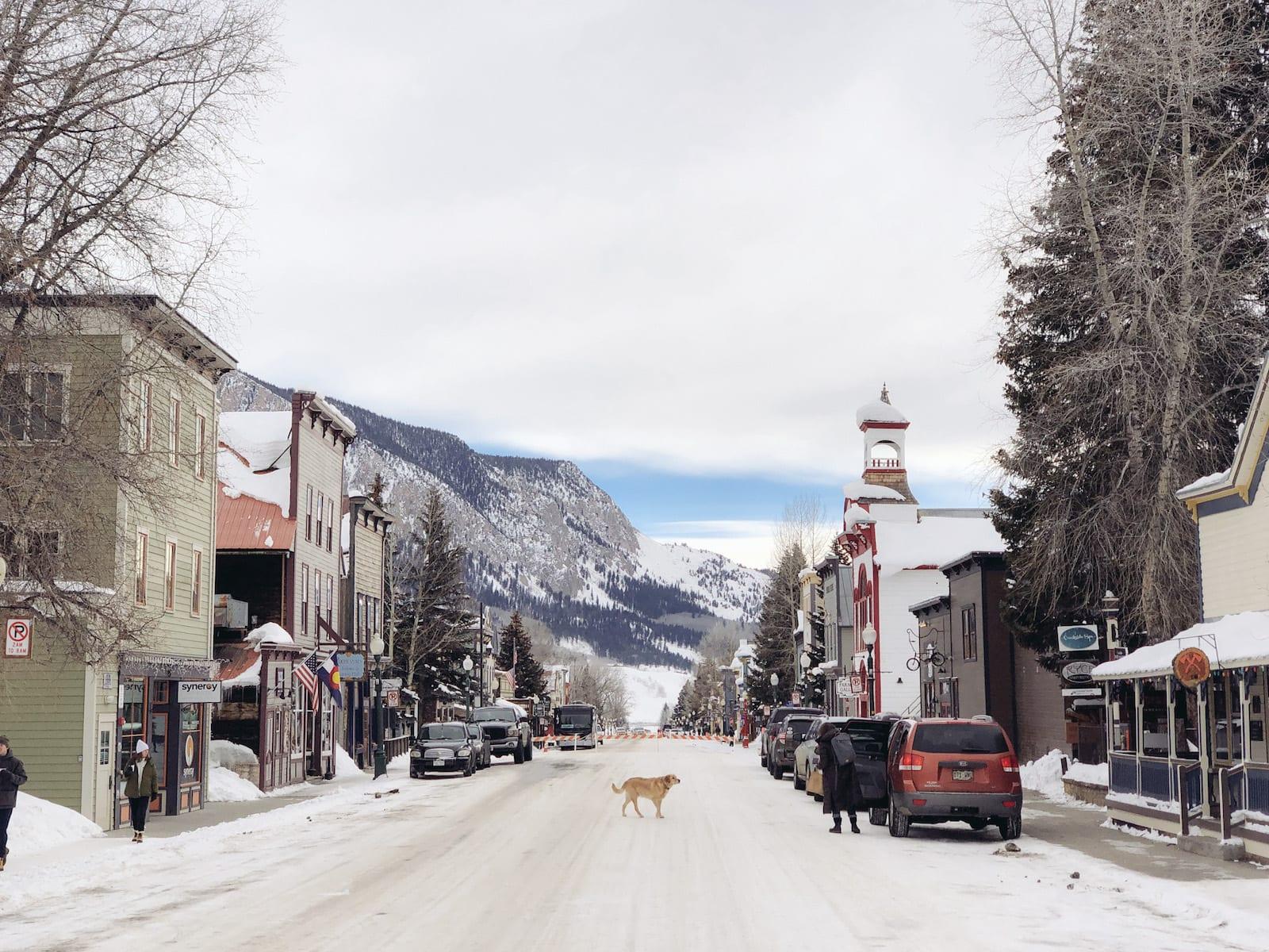 Elk Avenue in Crested Butte, Colorado
