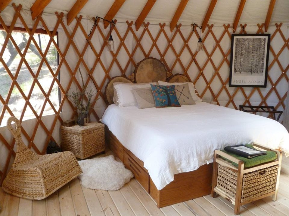 image of green sky yurt retreat