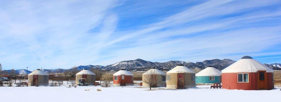 image of yurts at hot springs