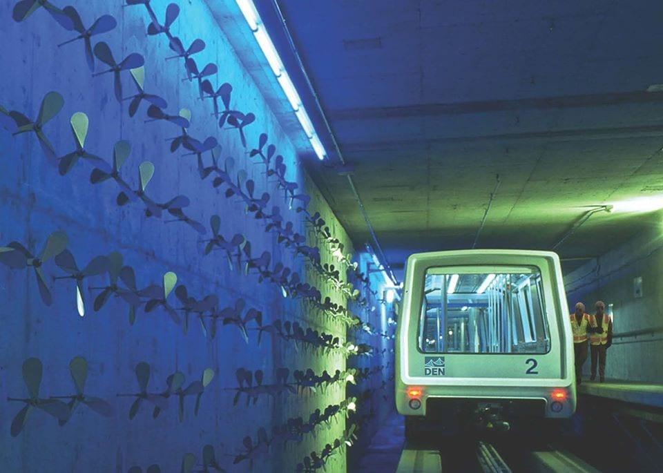 image of art sculpture at denver international airport