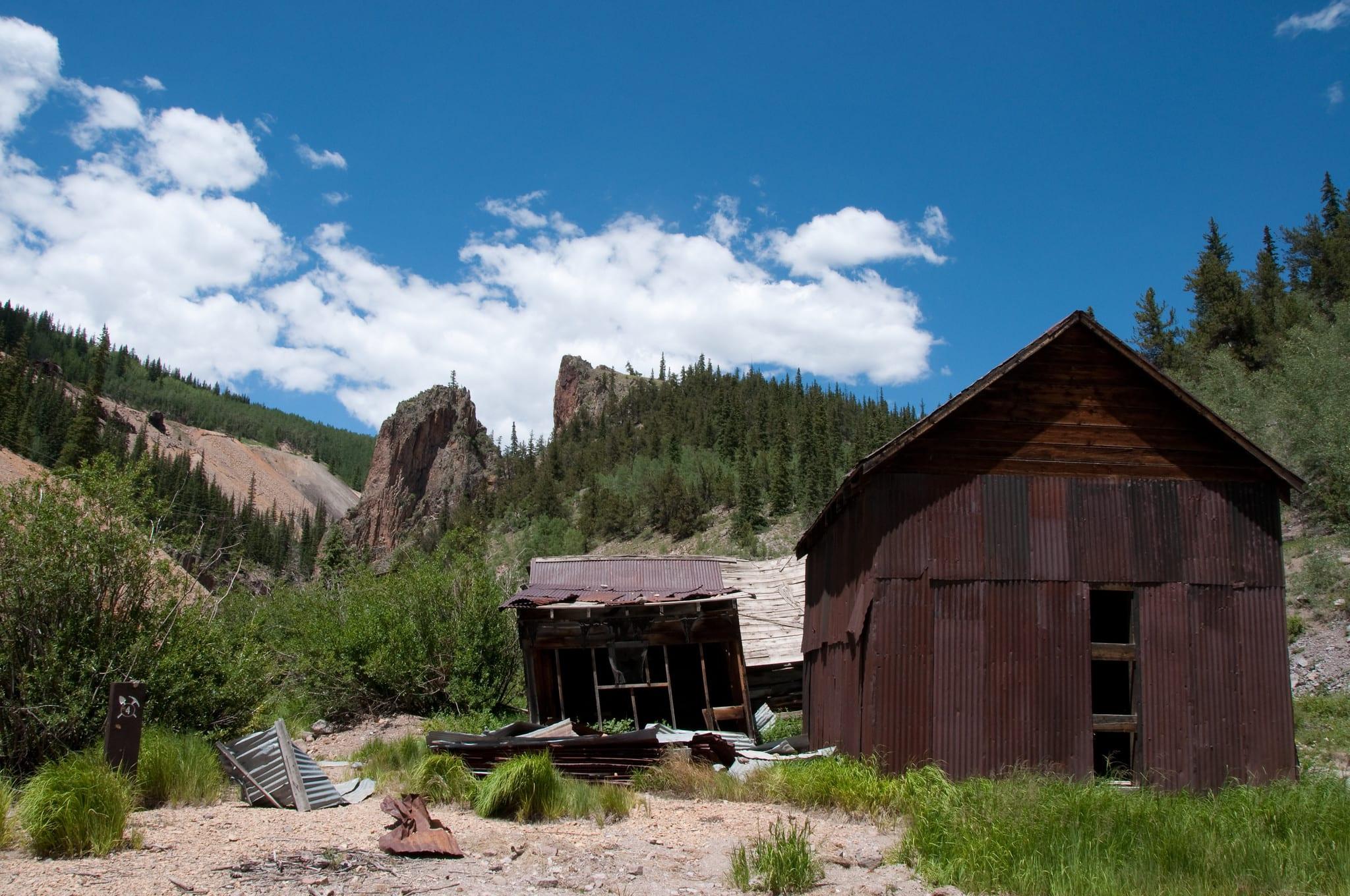 image of a mine in creede colorado