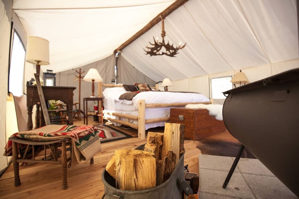 image of collective retreats glamping tents
