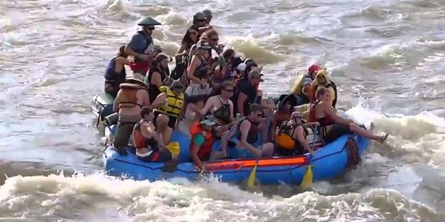 Animas River Days Parade Durango Colorado Packed Boat
