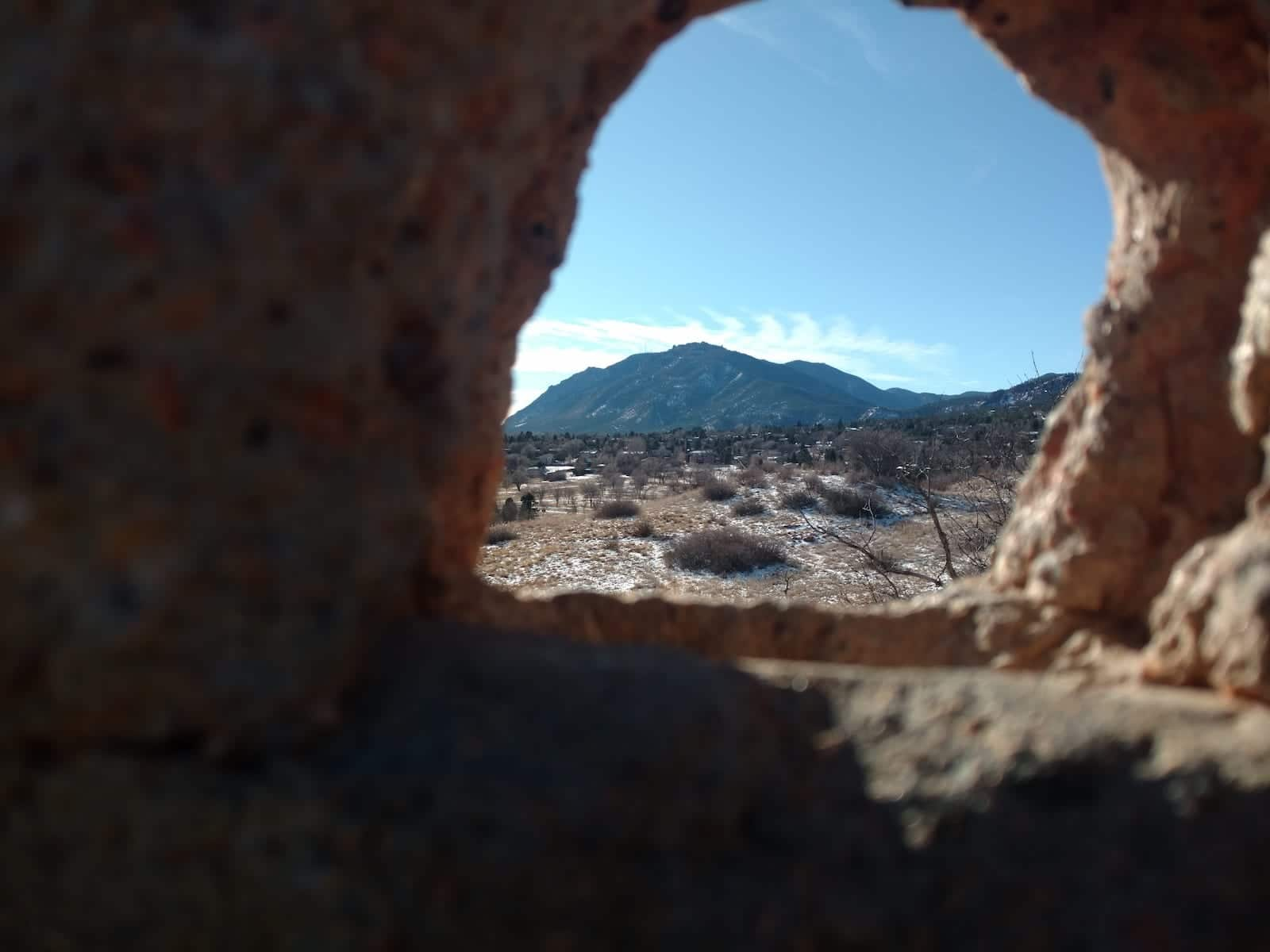 Looking Through Arch at Bear Creek Regional Park at Cheyenne Mountain Colorado Springs