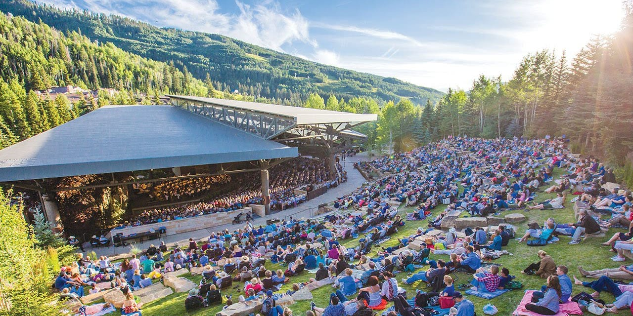 Bravo Vail Music Festival Outdoor Concert Aerial View
