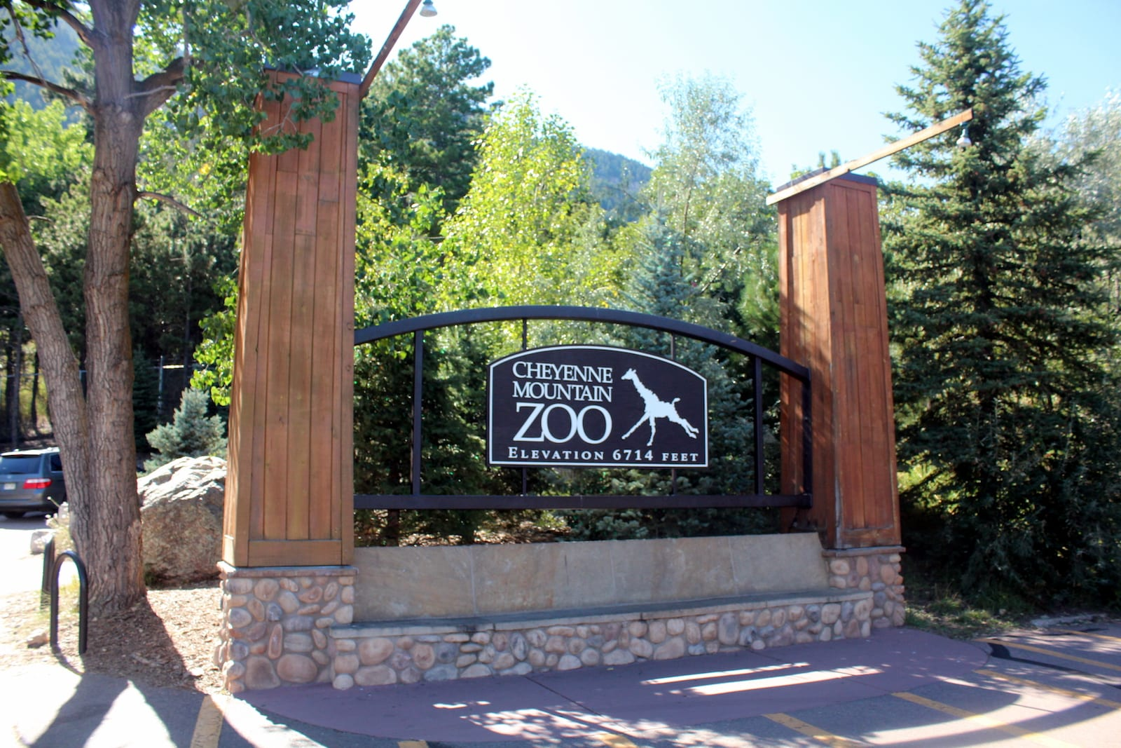 Cheyenne Mountain Zoo Welcome Sign Colorado Springs