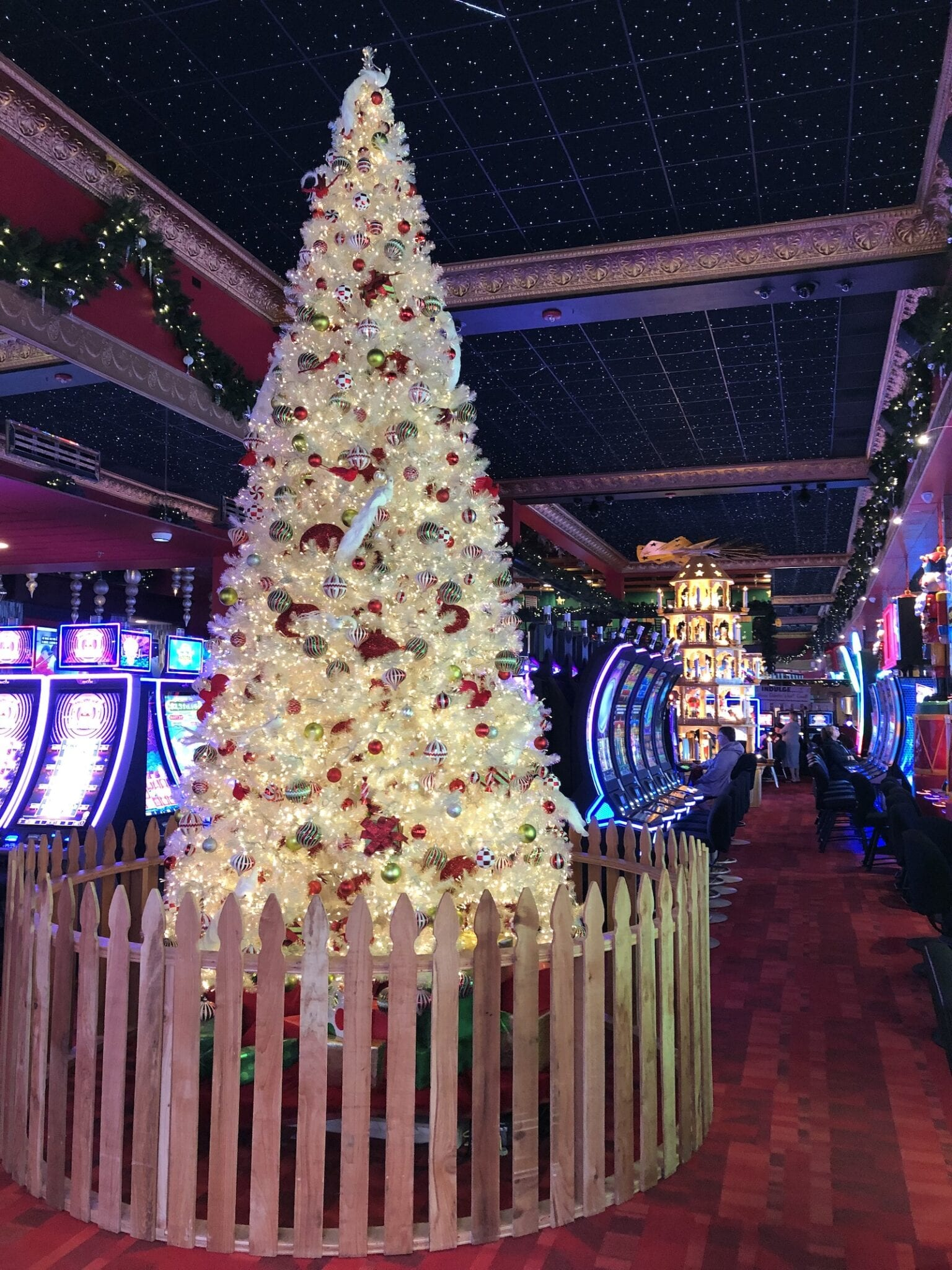 Christmas Casino and Inn 15 Foot Tree Cripple Creek