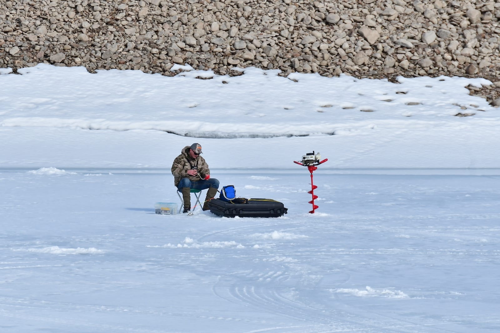 Colorado Ice Fishing Blue Mesa Reservoir