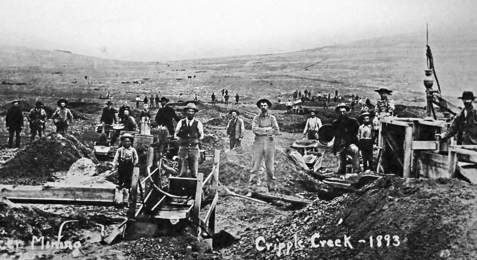 Cripple Creek CO 1893 Rush Gold Placer Mining