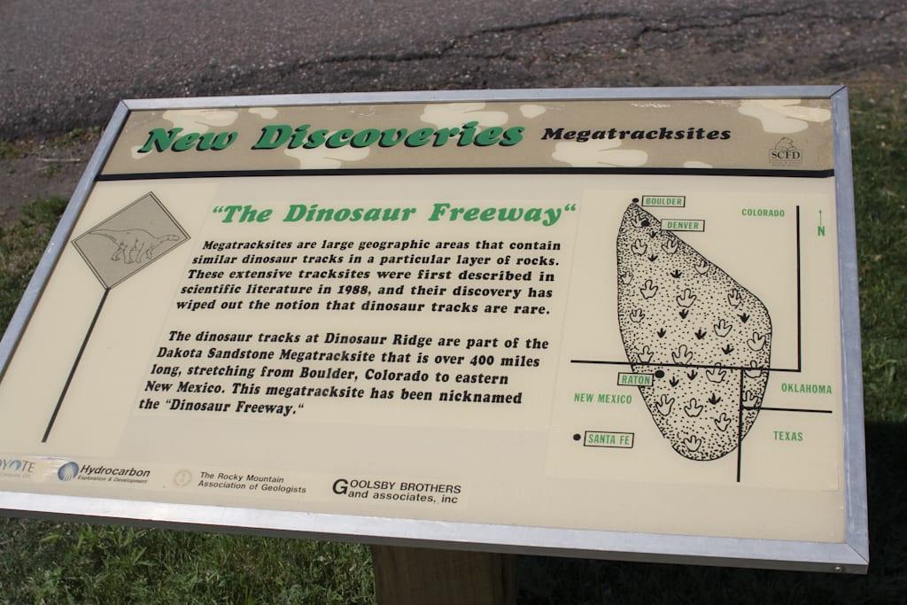Dinosaur Ridgway Dinosaur Freeway Sign