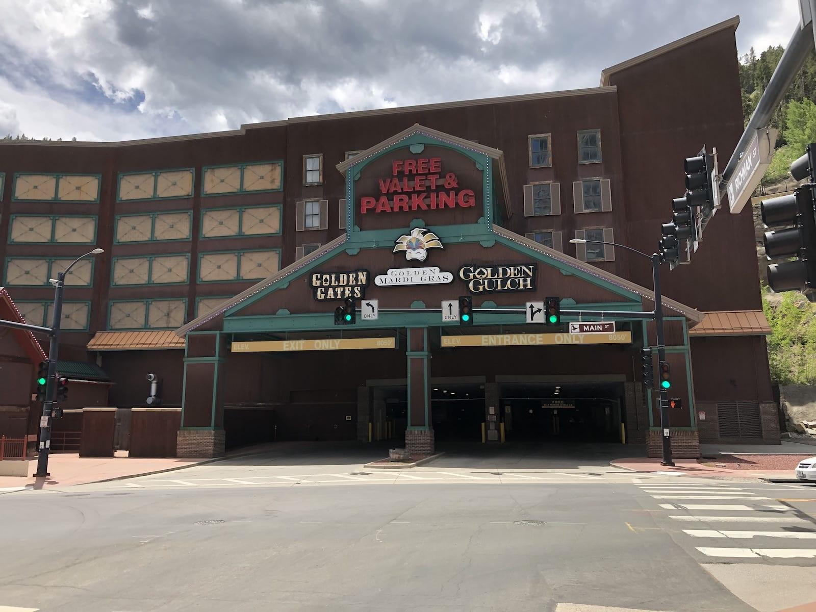 Golden Gates Casino Black Hawk CO Parking Garage