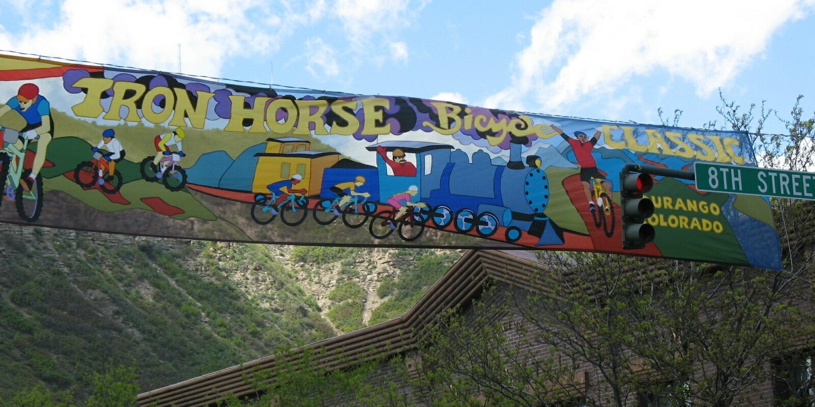 Iron Horse Bicycle Classic Downtown Durango Sign