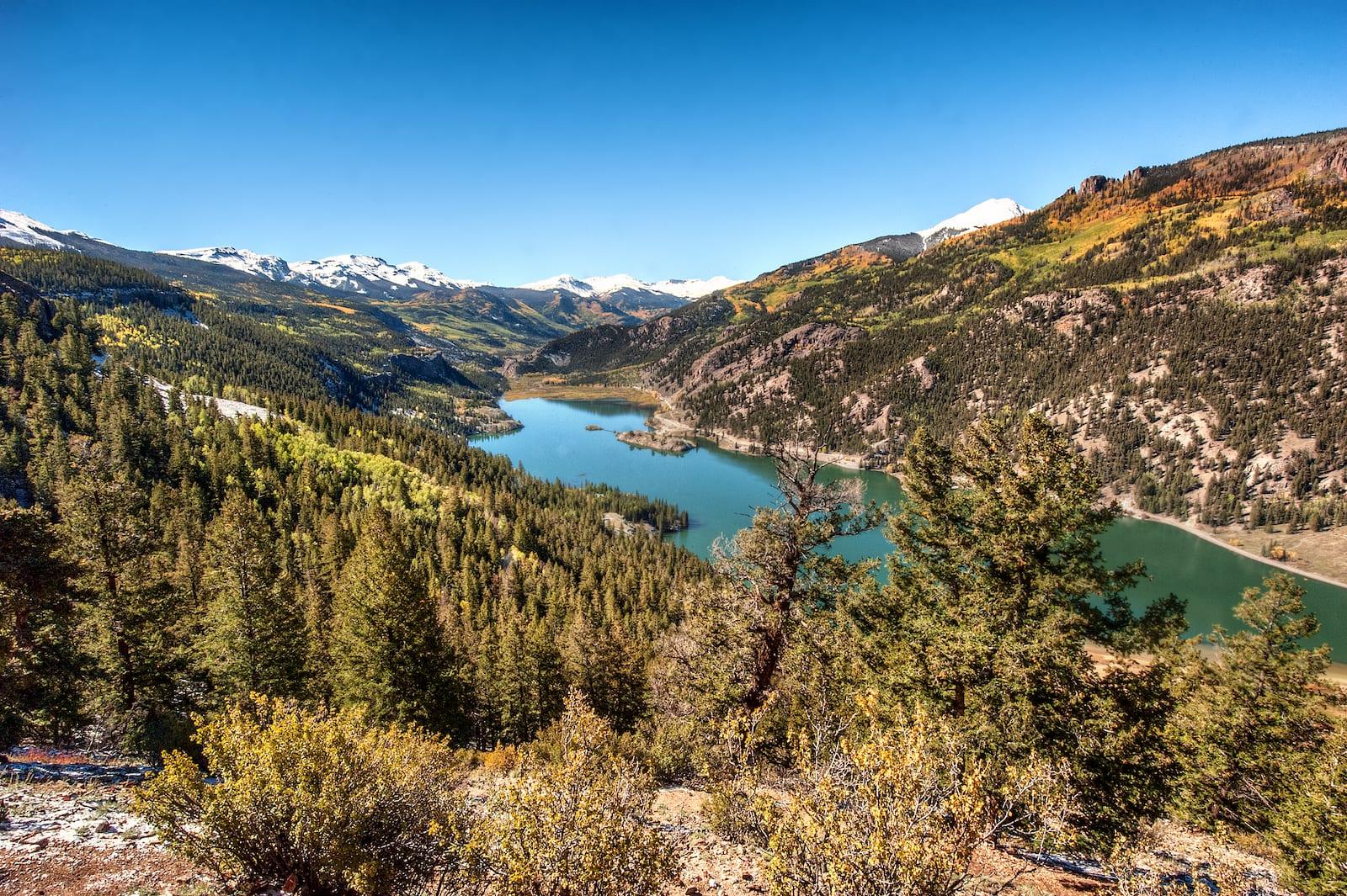 Lake San Cristobal Aerial Overlook Colorado