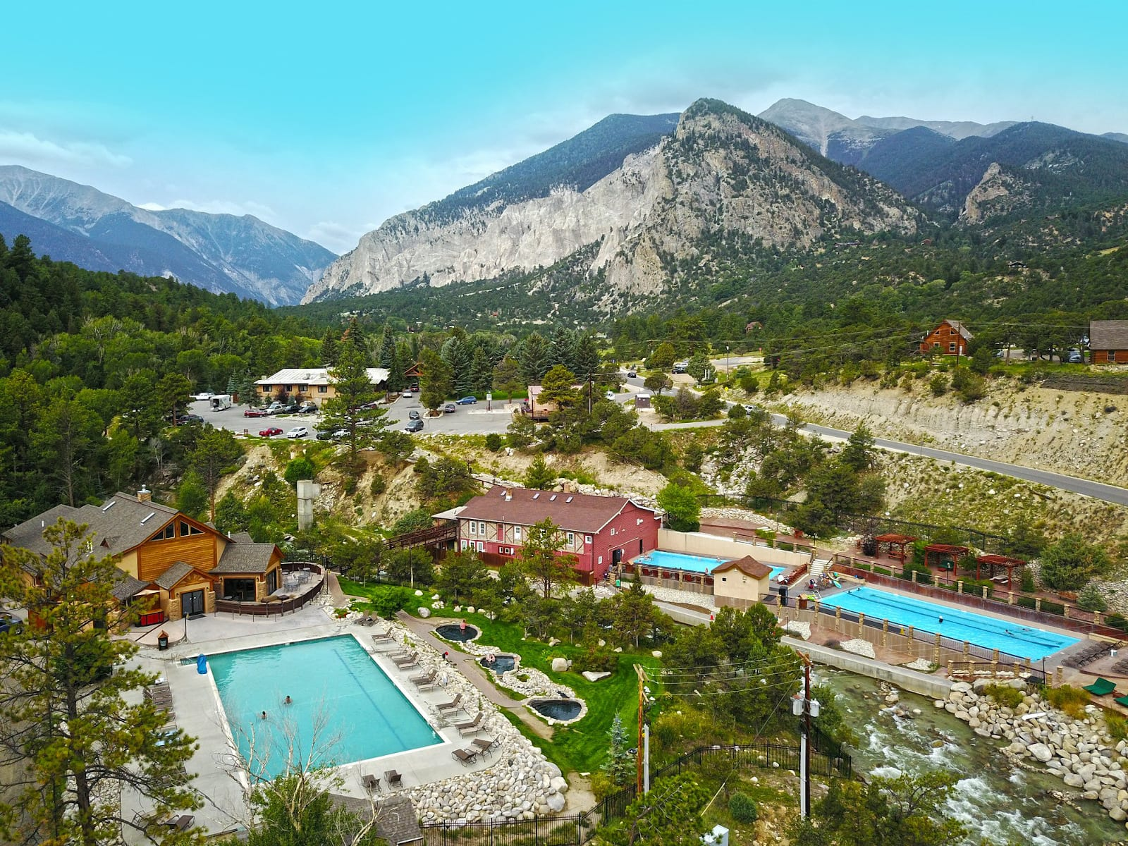 Mount Princeton Hot Springs Resort Aerial View Nathrop CO