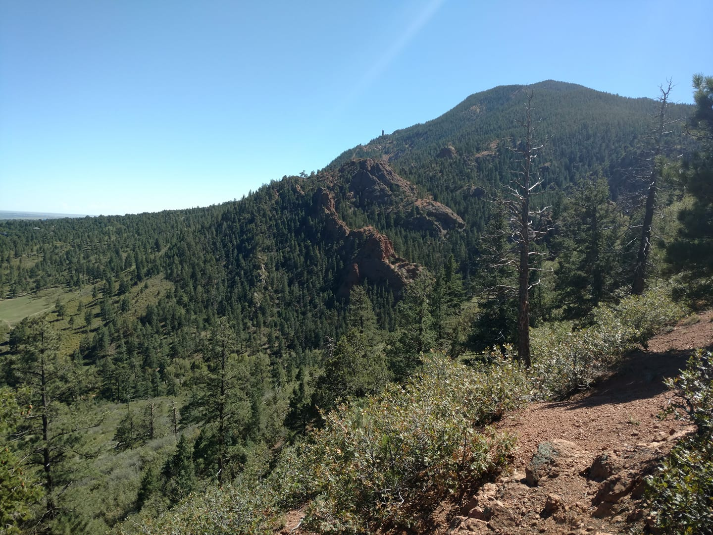 North Cheyenne Canon Mountainside Forest Colorado Springs