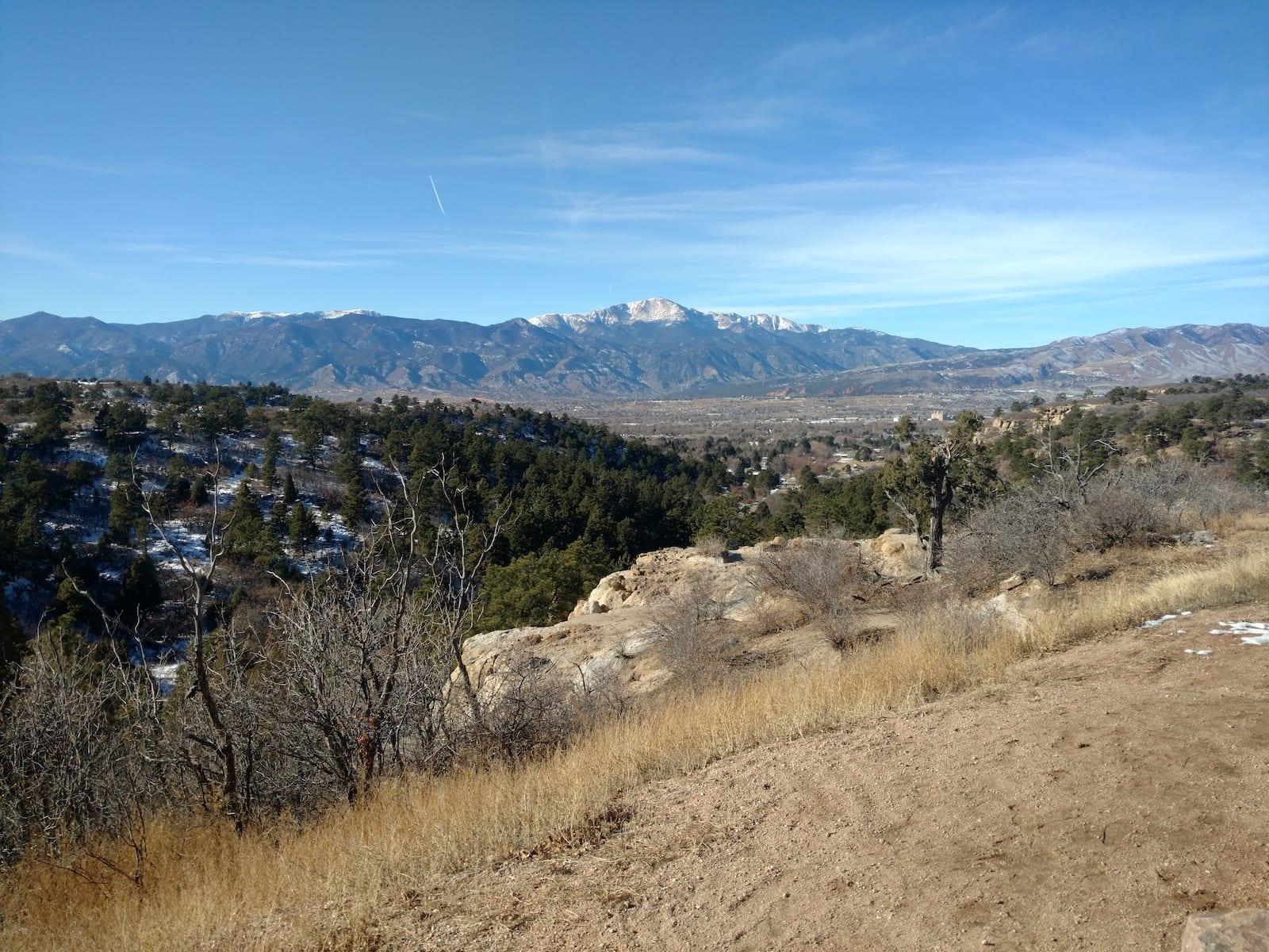 Palmer Park Pikes Peak In Distance Colorado Springs