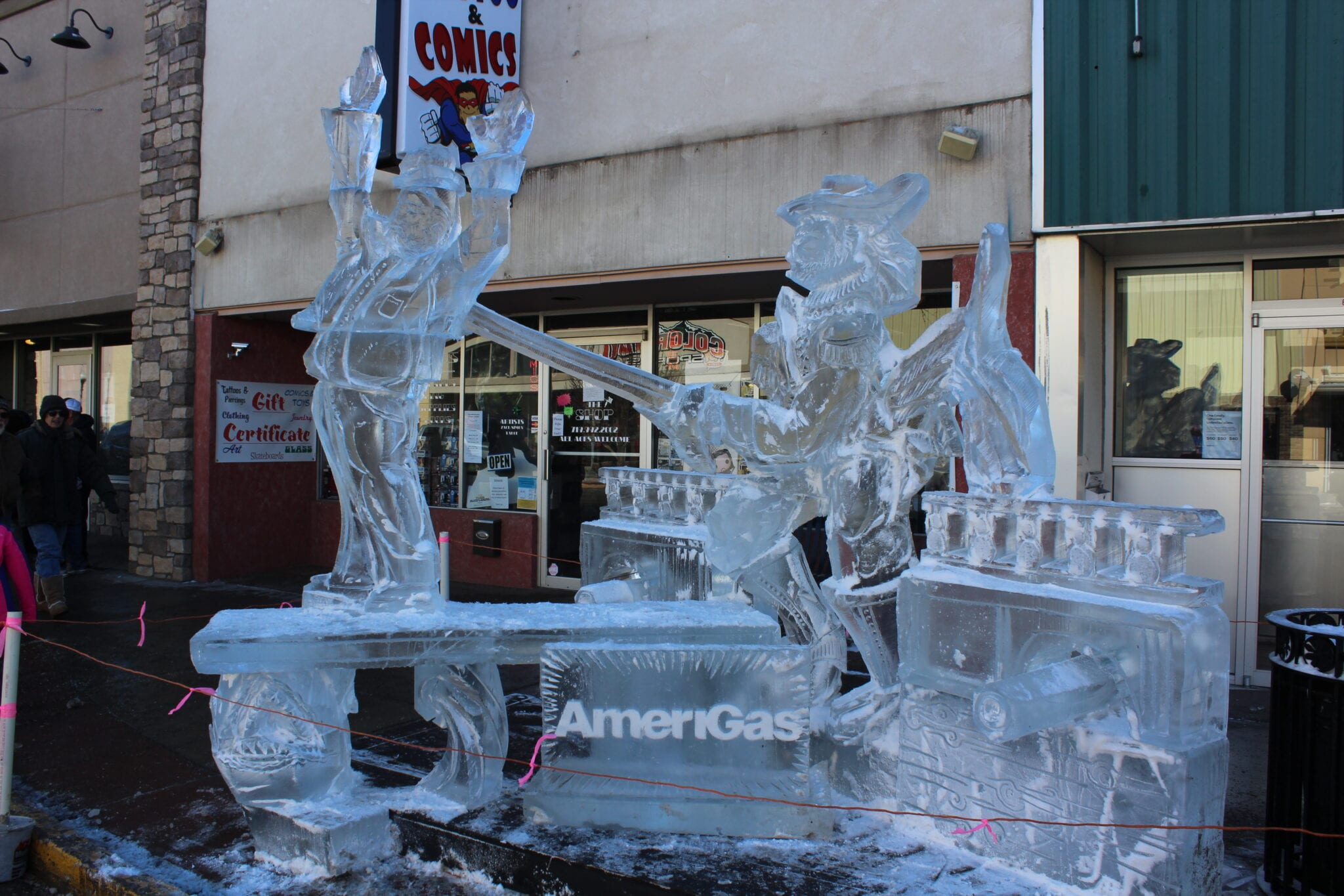 image of ice sculptures