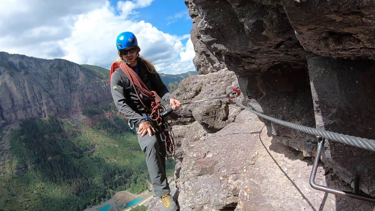 Via Ferrata Telluride Guide Aaron San Juan Mountain Guides