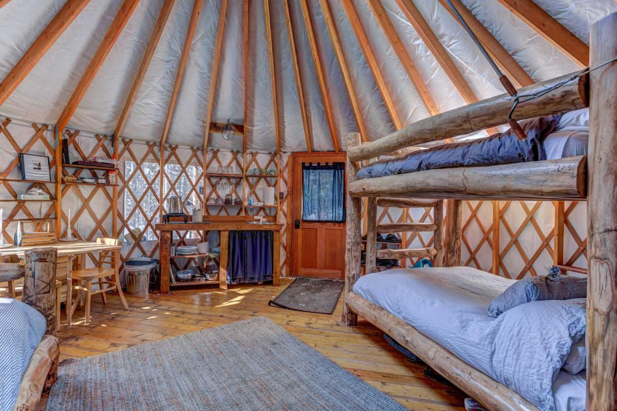 Tennessee Pass Sleep Yurt Leadville Colorado