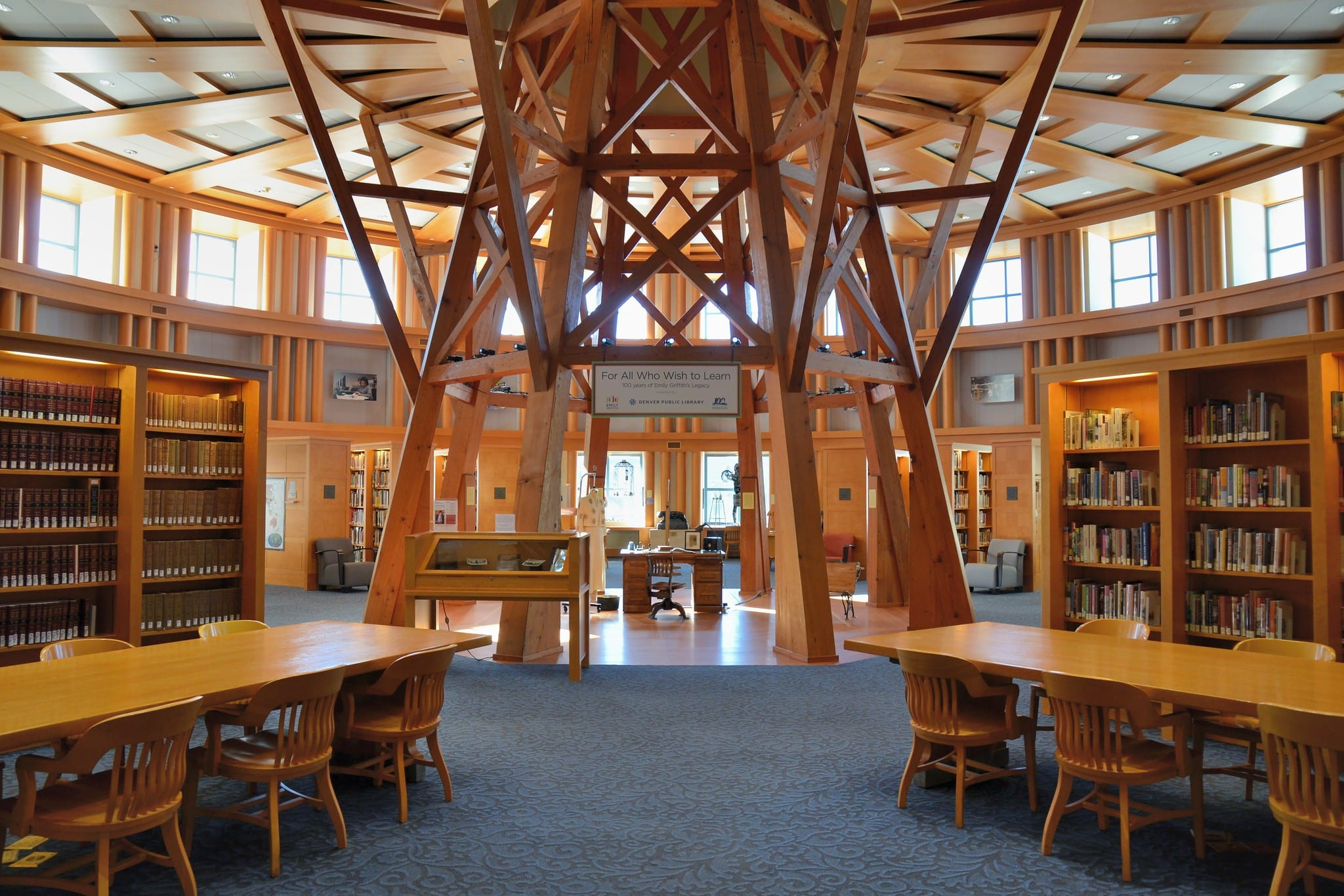 image of inside of denver public library