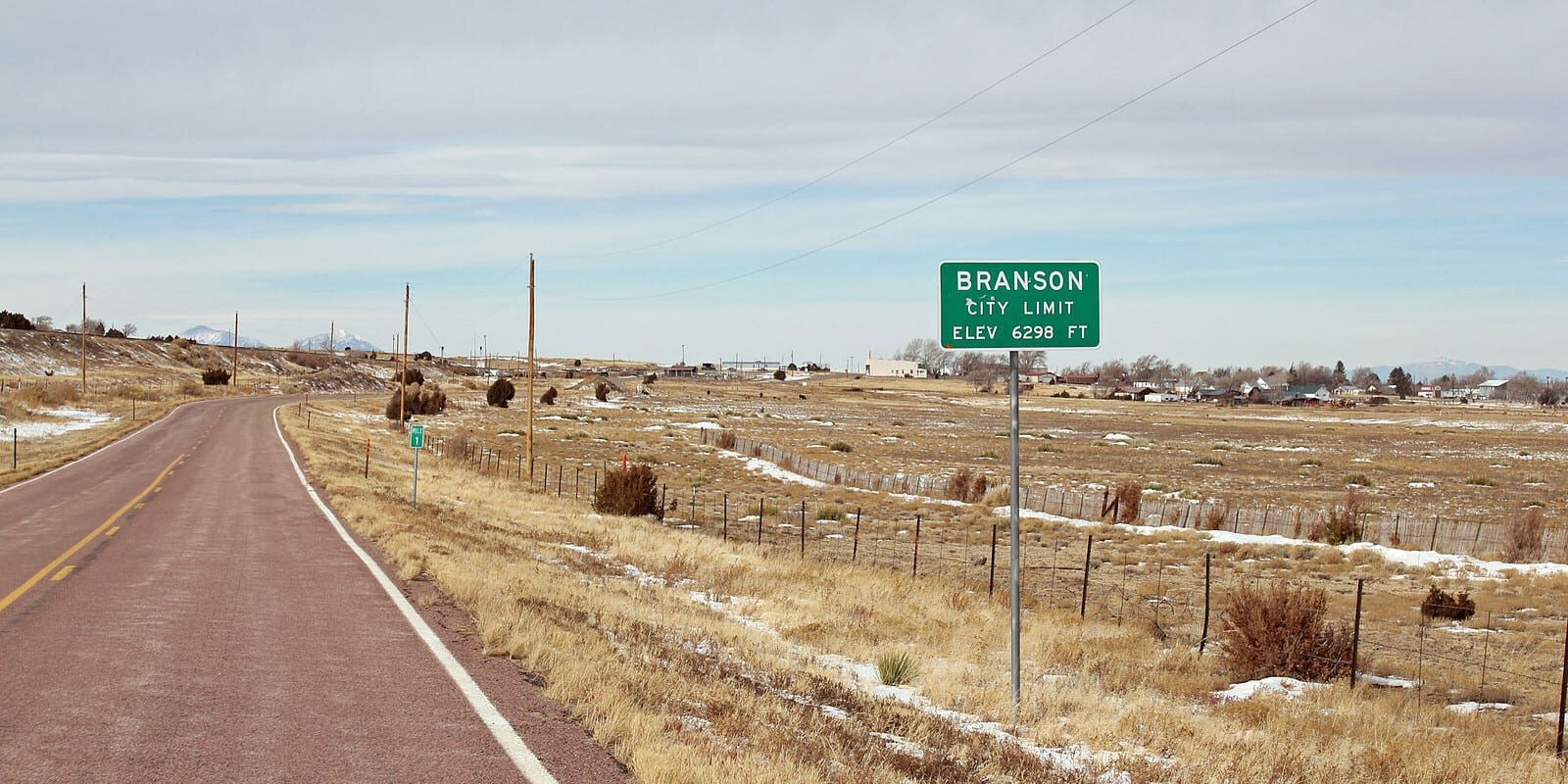 Branson CO City Limit Sign on Colorado State Highway 389