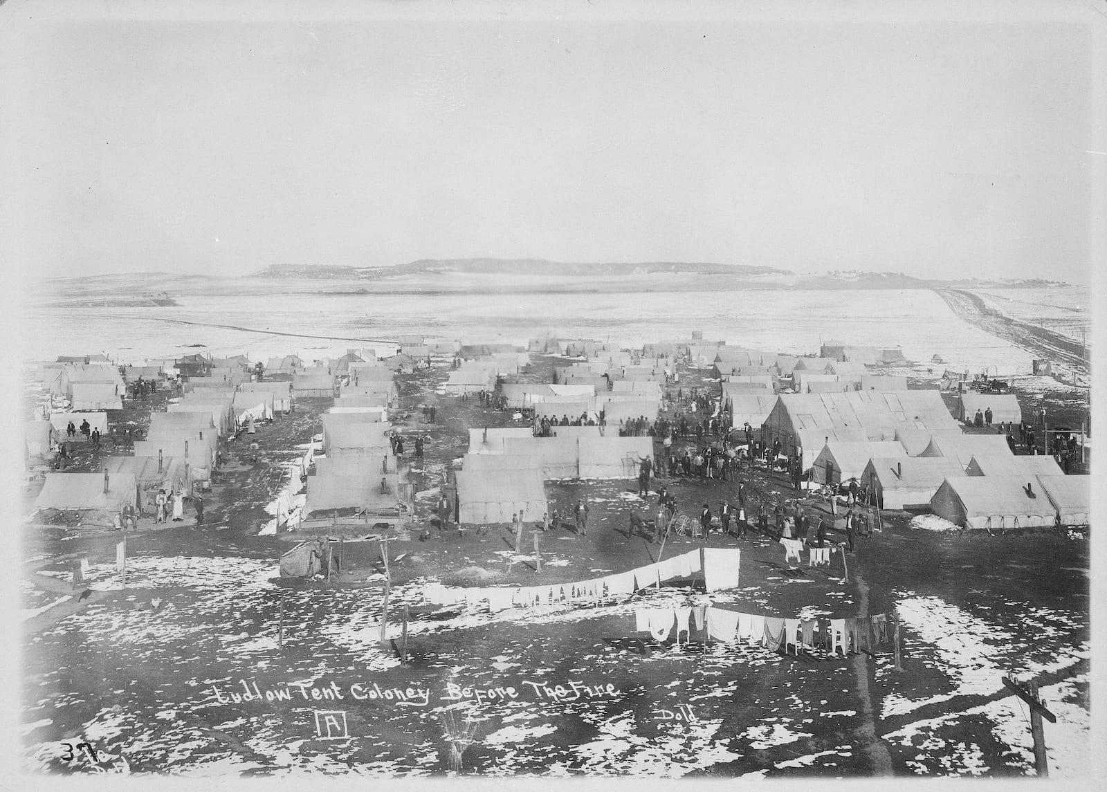 Ludlow Colorado Tents Before Massacre 1914