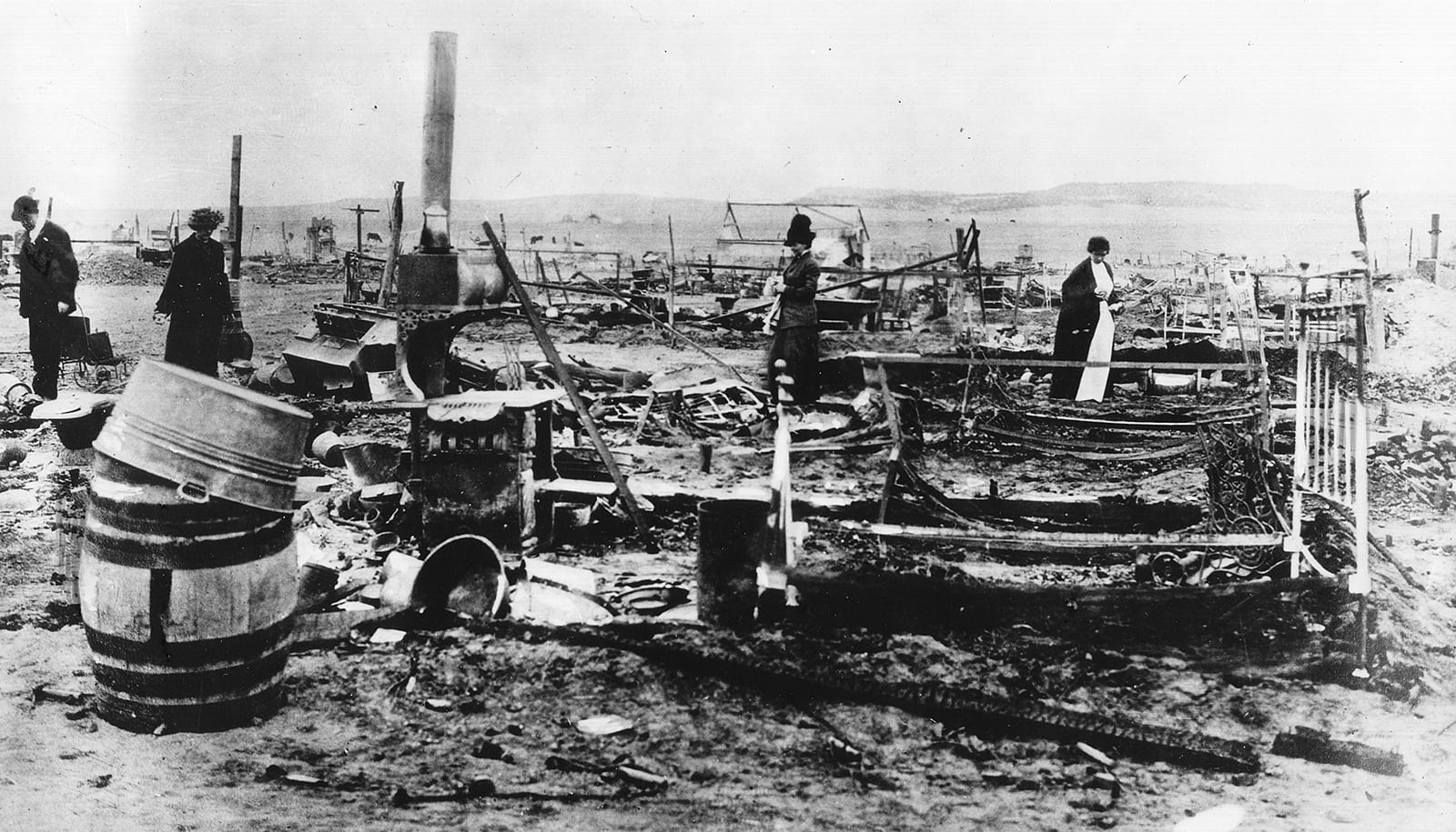 Camp Ludlow Colorado Ruins 1914 After Massacre